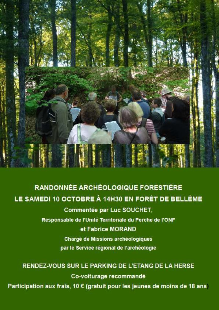 Affiche Association Patrimoine de Saint-Mard, randonnée archéologique