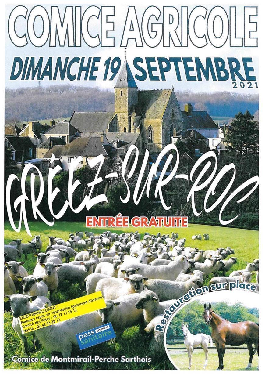 Affiche du comice agricole de Greez-sur-Roc, 19 septembre 2021