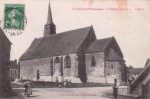 église de Frétigny (CPA, Perche-Gouet.net)