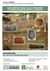 18-25 septembre 2021, Mortagne, exposition, Gallo-romains et Mérovingiens dans le Perche