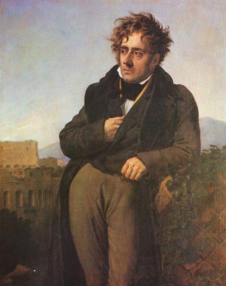 Anne-Louis Girodet, Portrait de Chateaubriand, Saint-Malo, musée d'Histoire de la Ville et du Pays Malouin.